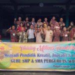 Training Guru dan Siswa Yayasan Perguruan Wahidin Bagansiapiapi Bersama Namin AB Ibnu Solihin