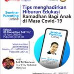 Poster Minggu Pertama Ramadhan Seminar Parenting Online Gratis Bersama Namin AB Ibnu Solihin